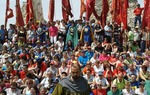 Los habitantes de los pueblos del Camino del Cid, comprometidos con sus tradiciones y su pasado. Lara de los Infantes, Burgos / ALC.