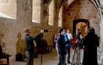 Grabación en el interior del monasterio de Santa María de Huerta, Soria