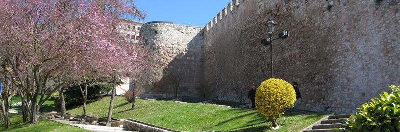 Murallas de la ciudad medieval, en Burgos.