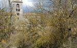 La torre románica del monasterio de San Pedro de Cardeña, Burgos / ALC.
