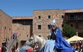 Doña Blanca de Borbón, en la Feria Medieval de Sigüenza, en Guadalajara