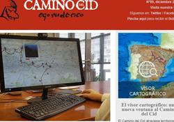 Boletín del mes de diciembre de 2017 del Camino del Cid