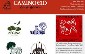 Portada del Boletín de Noticias del Camino del Cid del mes de julio