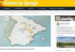 Imagen del reportaje sobre el Camino del Cid en la página holandesa www.fietseninspanje.nl