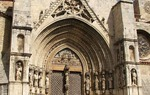 Portada gótica de la iglesia de Santa María La Mayor en Morella, Castellón / ALC.