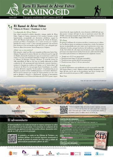 Topoguía ruta senderista del Ramal de Álvar Fáñez