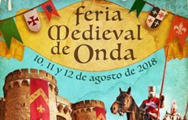La Feria Medieval de Onda tendrá lugar del 10 al 12 de agosto