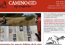 Portada del Boletín de Noticias del Camino del Cid del mes de agosto