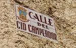 Las calles dedicadas al Cid son bastante comunes en la ruta / ALC.
