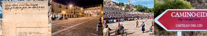 Imágenes del folleto del Camino del Cid editado por Turismo Castilla-La Mancha