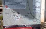 En Albarracín, Teruel, encontramos otro de los paneles informativos en el trazado para bicicletas de montaña
