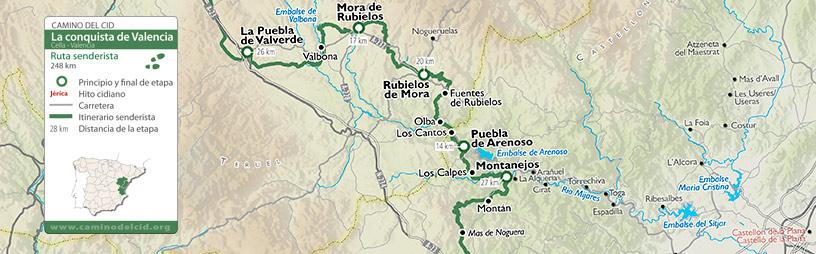 Cabecera mapa Senderista Conquista de Valencia