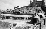 Con posterioridad el Cid fue recuperado por los románticos alemanes y desde entonces la leyenda del Cid ha contado con numerosas reinterpretaciones que han acrecentado el mito: obras de teatro, óperas, novelas, o películas, como la que protagonizaron Charlton Heston y Sofía Loren en 1961, en la imagen / Castillo de Belmonte.