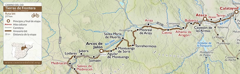 Cabecera mapa BTT-MTB Tierras de Frontera