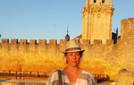 La periodista Iciar Ochoa de Olano en El Burgo de Osma (Soria)