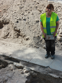 La arqueóloga Fabiola Monzón, directora de las excavaciones