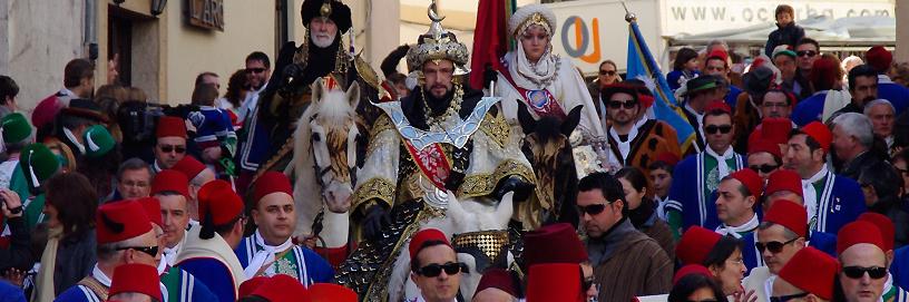 Fiestas de Moros y Cristianos en Bocairent, Valencia.