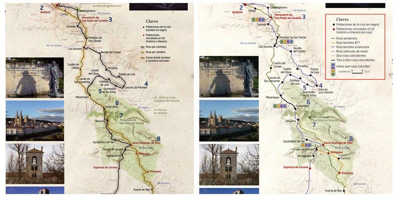Los mapas incorporan las 4 modalidades de recorrido.
