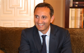 César Sánchez, presidente de la Diputación Provincial de Alicante y del Consorcio Camino del Cid