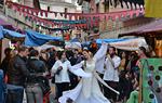Una bailarina recorre el Mercado Medieval ( (Imagen: Visit Monforte)