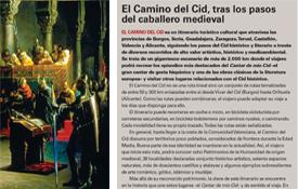 La revista Historia de Iberia dedica un espacio al Camino del Cid en su monográfico sobre la figura del Campeador