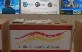 """Mostrador de """"Rutas Culturales de España"""" en la World Travel Market de Londres"""