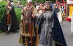Marco junto a Ingrid, que representa a Jimena, la esposa del Cid