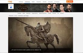 Reportaje sobre el Cid y la ruta de la web oficial del Ministerio del Tiempo