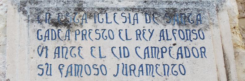 La Jura de Santa Gadea fue un hecho estrictamente literario, tal y como subraya Martínez Díez