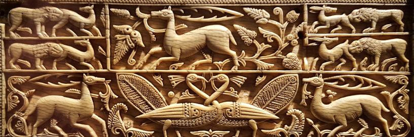 Arqueta islámica del siglo XI en el Museo Arqueológico de Burgos.