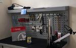 Algunas de las herramientas del taller de reparación