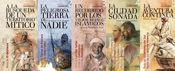 Juego de los cinco folletos del Camino del Cid