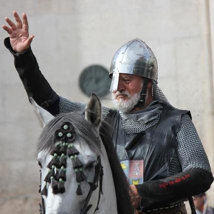 El Cid se despide de los burgaleses. Representación durante el fin de semana cidiano de Burgos, el primer fin de semana de octubre / ALC.