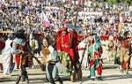 La Asociación de Mujeres de Hita, último colectivo premiado por su colaboración en el Festival Medieval que tiene lugar en la localidad. En la imagen un momento del veterano evento