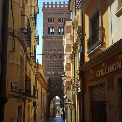 Torre mudéjar de San Salvador, en Teruel, declarada Patrimonio de la Humanidad, ALC.