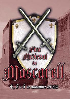 Cartel de la Feria Medieval de Mascarell 2016