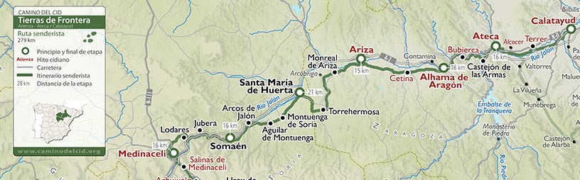 Cabecera mapa Senderista Tierras de Frontera