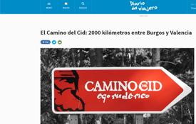 """Entrada dedicada al Camino del Cid del blog """"Diario del Viajero"""""""