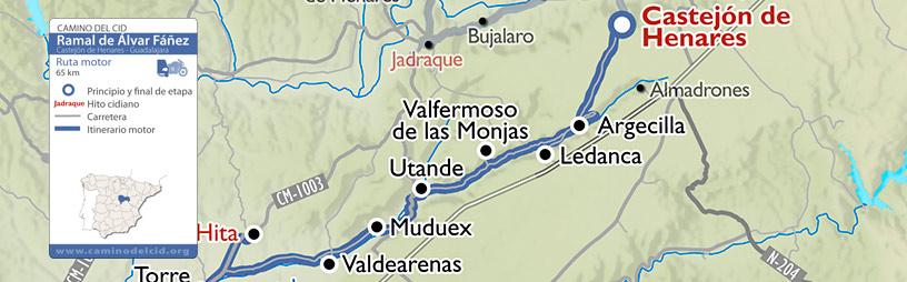 Cabecera mapa Motor Ramal Álvar Fáñez