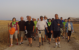 Miembros de la Asociación Cidiana Tierra de Pinares de Quintanar de la Sierra (Burgos)