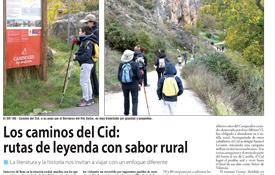 Reportaje sobre el Camino del Cid publicado en Nueva Alcarria. Lo firma la periodista Isabel García López