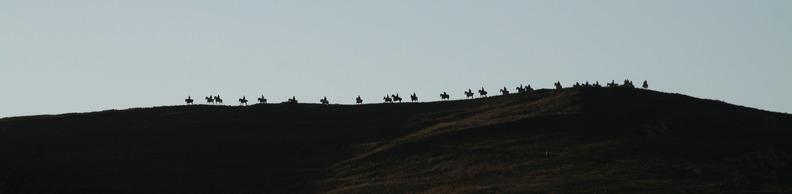 Descenso de las tropas del Cid desde el cerro de El Poyo, uno de los momentos más impactantes de los Encuentros con Mío Cid