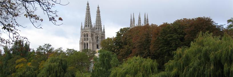 Agujas de la catedral gótica de Burgos.