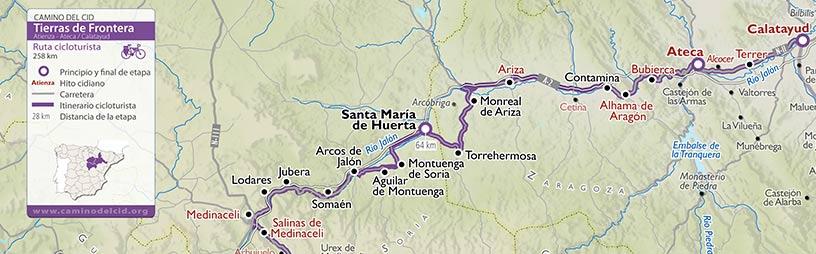 Cabecera mapa Cicloturismo Tierras de Frontera
