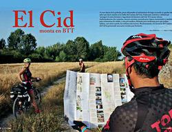 La Revista de septiembre de Grandes Espacios publica un reportaje sobre el Camino del Cid en BTT