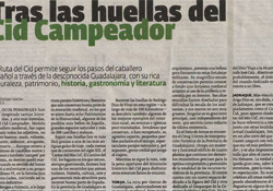 Tras las huellas del Cid Campeador. Reportaje publicado por Diario de Pontevedra