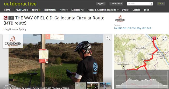 Una de las rutas que aparecen en la plataforma alemana Outdoor Active