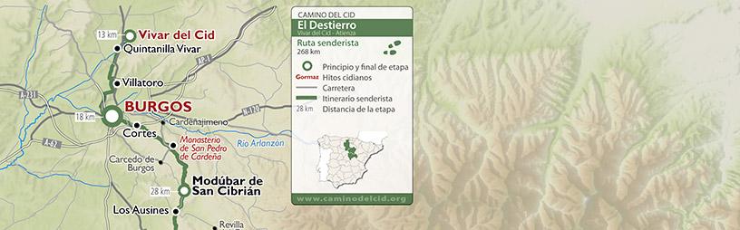 Cabecera mapa Senderista El Destierro