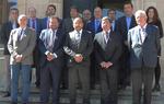 Foto de familia de los asistentes al Consejo Rector del Consorcio Camino del Cid celebrado en Soria