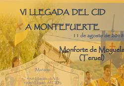 La Llegada del Cid a Monforte tendrá lugar el sábado 11 de agosto